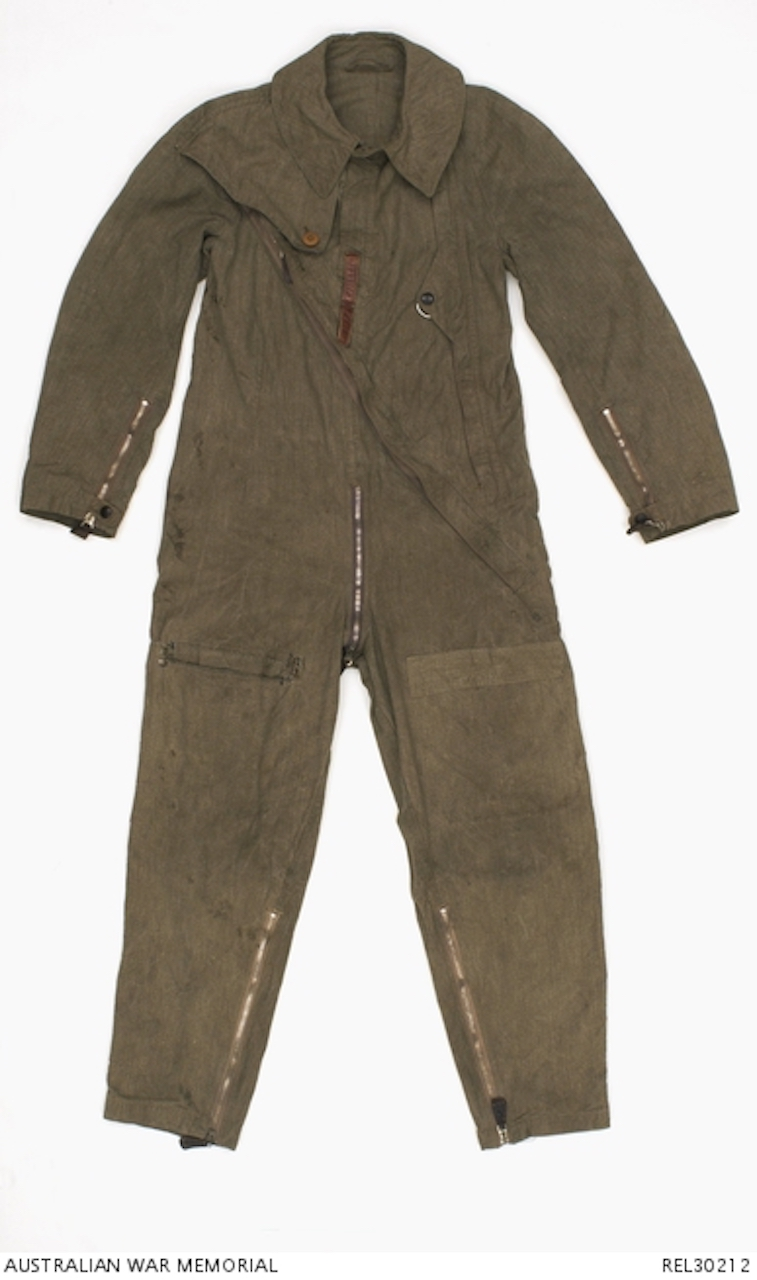 9ef63bf8179 Luftwaffe unlined cotton 'Sommerfliegerkombi' one-piece summerweight flying  suit. The suit is made from heavy weight brown and white flecked 'salt and  ...