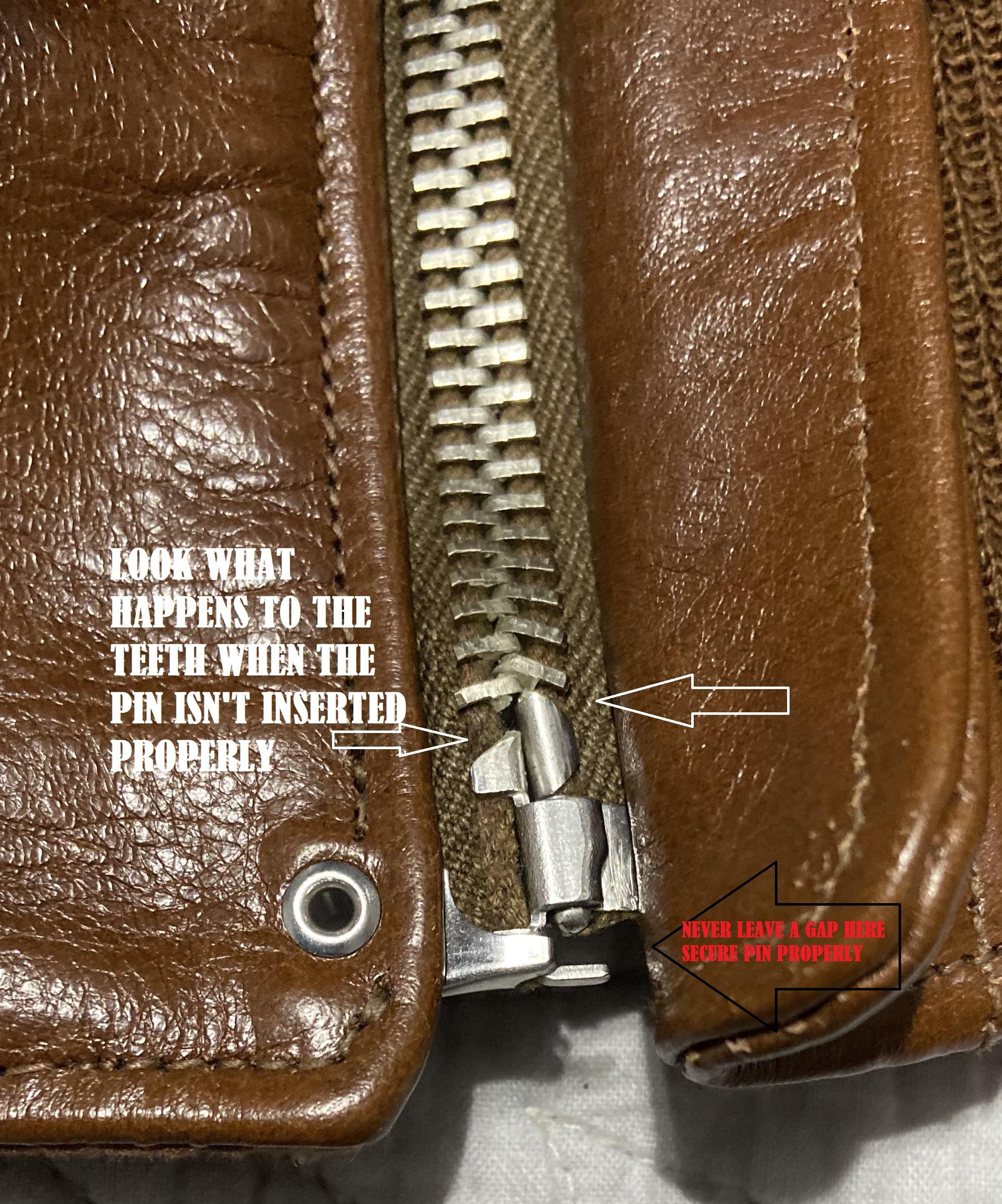 Zipper guide vintage 5 Construction