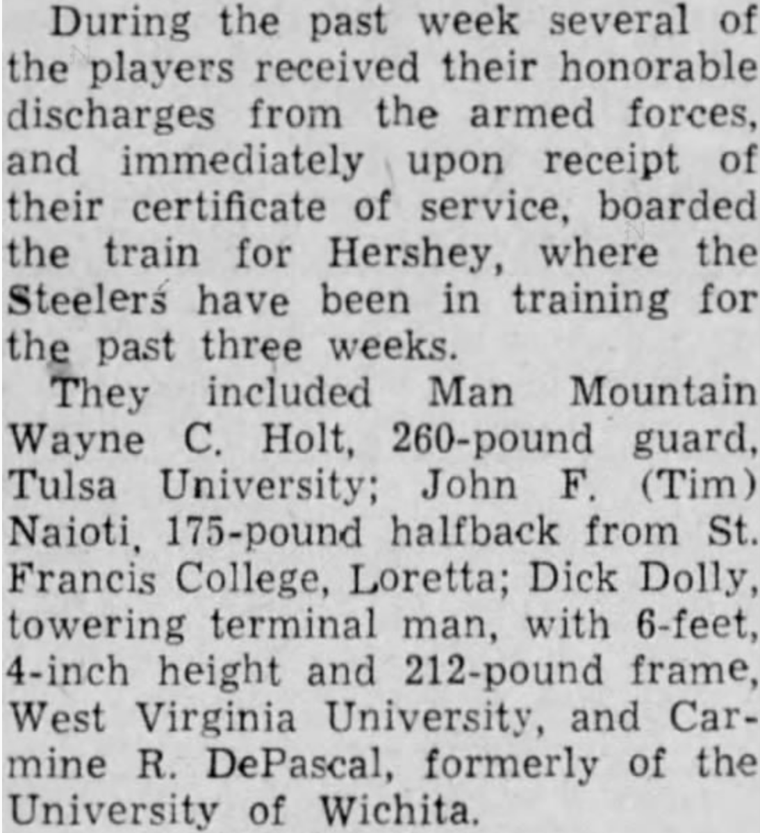 with the Steelers 13 Sep 1945.png